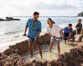 Hot water beach shuffle