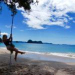 Swing at beach